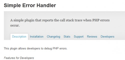 Simple Error Handler