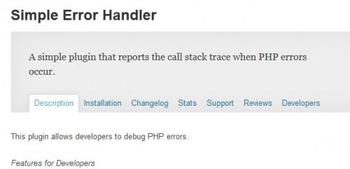 Simple Error Handler