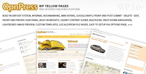 Sofa OpnPress - Publishing Platform Theme