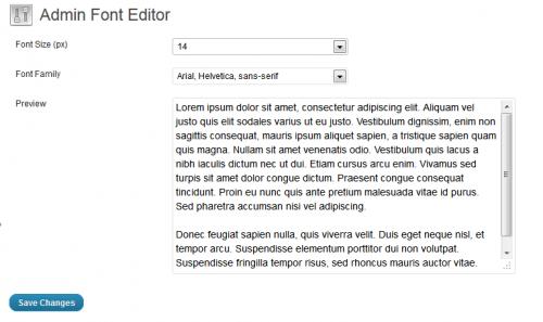 Admin Font Editor