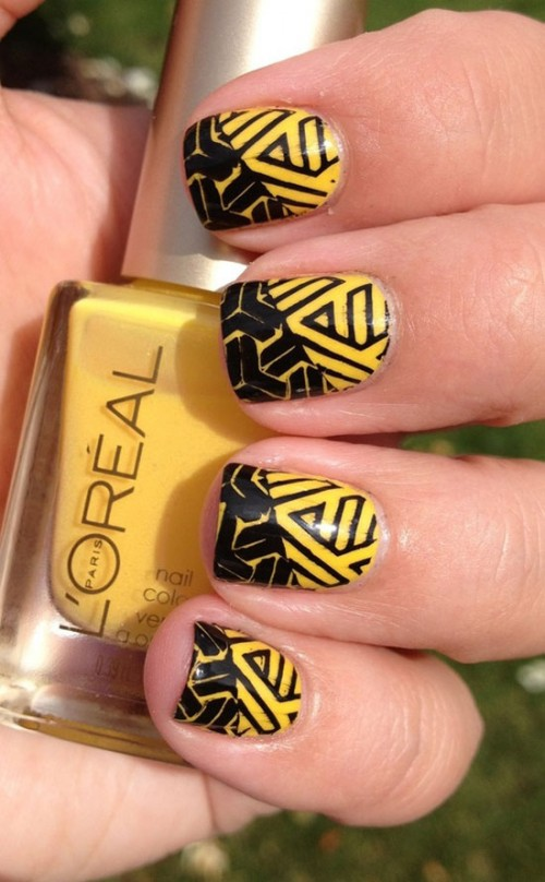 Simple Black Nail Art Designs for 2015
