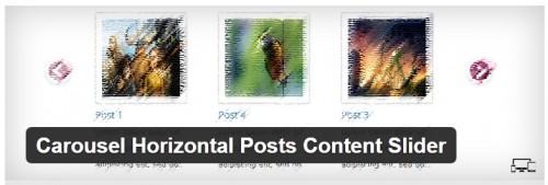 Carousel Horizontal Posts Content Slider
