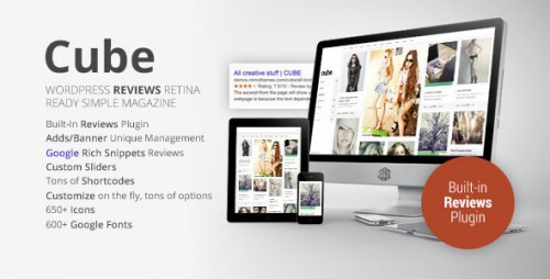 Cube Multipurpose Reviews WP Magazine Theme
