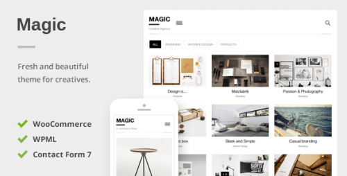 Magic - Portfolio & Ecommerce WordPress Theme