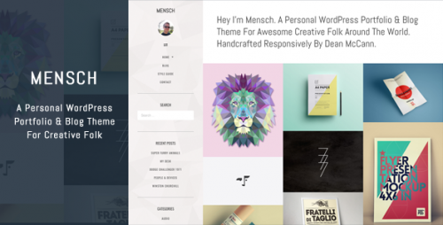Mensch - A Personal WordPress Portfolio & Blog Theme