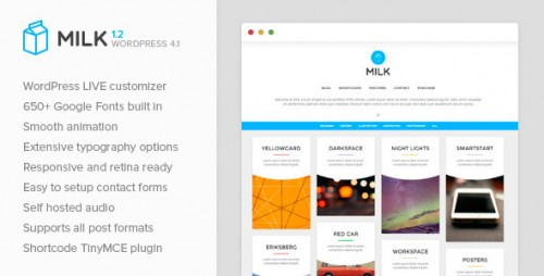 Milk - Simple Masonry WordPress Portfolio Theme
