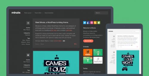 Minute Responsive WordPress Tumblog Theme