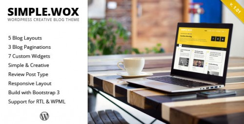 SimpleWox - WordPress Creative Blog Theme