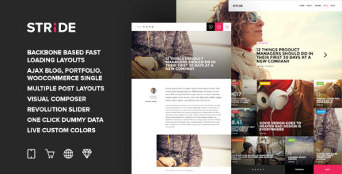 Stride - BackBone QuickLoad Grid Magazine Theme