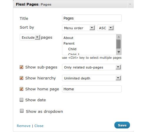 Flexi Pages Widget
