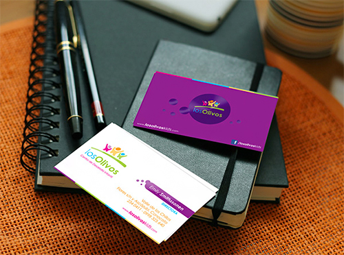 New Violet Business Card Design