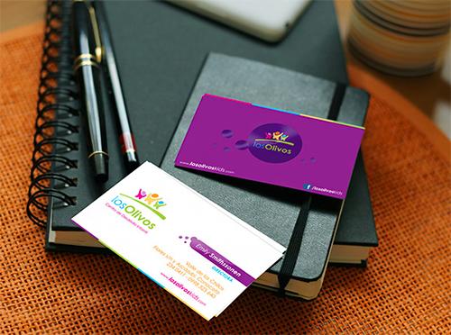 New Violet Business Card Design