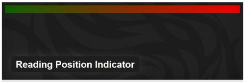 Reading Position Indicator