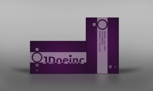 Sample Violet Business Card