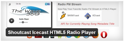 Shoutcast Icecast HTML5 Radio Player