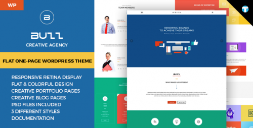 Buzz - Flat Responsive Onepage WordPress Theme