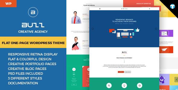 Buzz - Flat Responsive Onepage WordPress Theme
