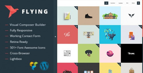 Flying - Interactive WordPress Theme Portfolio