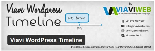 Viavi WordPress Timeline