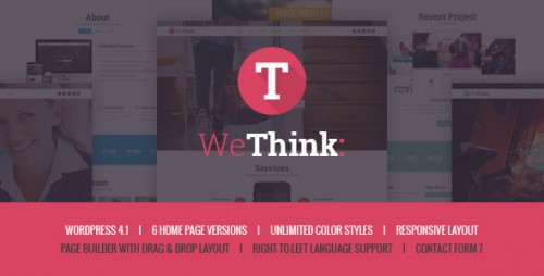 We Think - Single&Multi Page WordPress Theme