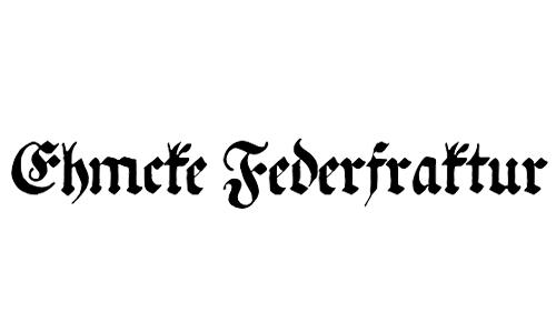 Ehmcke Federfraktur - free blackletter fonts