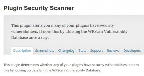 Plugin Security Scanner