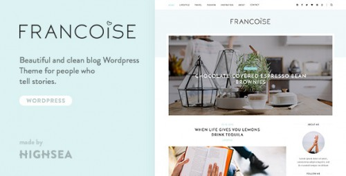 Francoise - WordPress Blog Theme