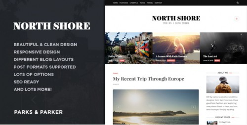 North Shore - Responsive WP Blog Theme