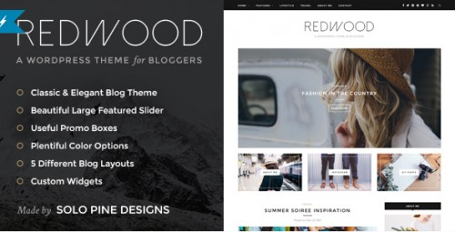 Redwood - Responsive WordPress Blog Theme