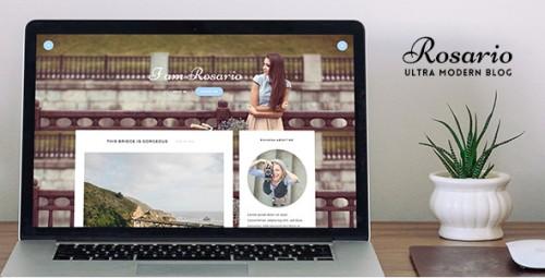 Rosario - A Responsive WordPress Blog Theme