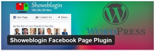 Showeblogin Facebook Page Plugin