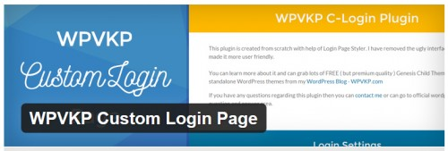 WPVKP Custom Login Page
