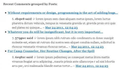 Better WordPress Recent Comments