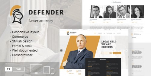 Defender - Attorney & Lawyer WordPress Theme