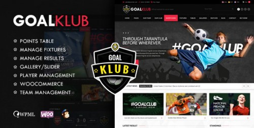 Goal Club - Sports & Events WordPress Theme
