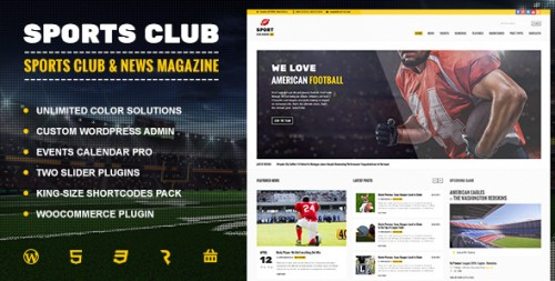 Sports Club - Football, Soccer, Sport News Theme