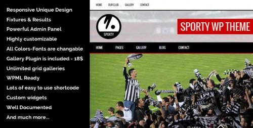Sporty - Best Baseball WordPress Themes