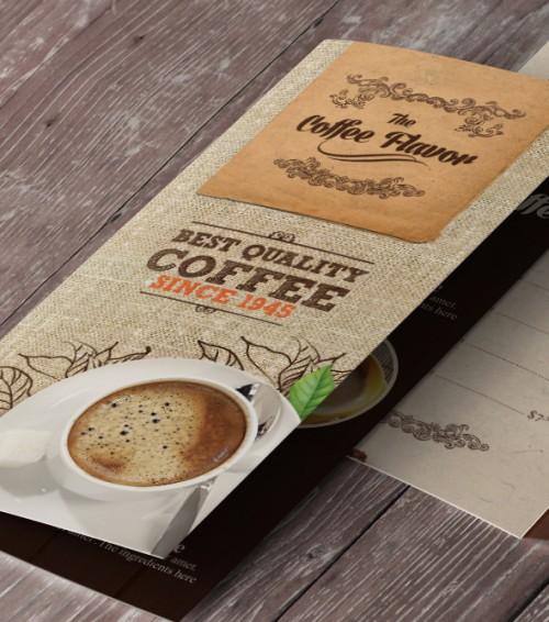Bi-fold Coffee Shop Menu Template