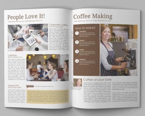 Coffee Brochure Template Din A4