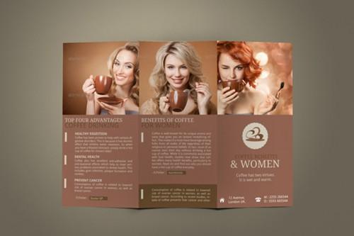 Coffee Health Benefits Tri Fold Brochure