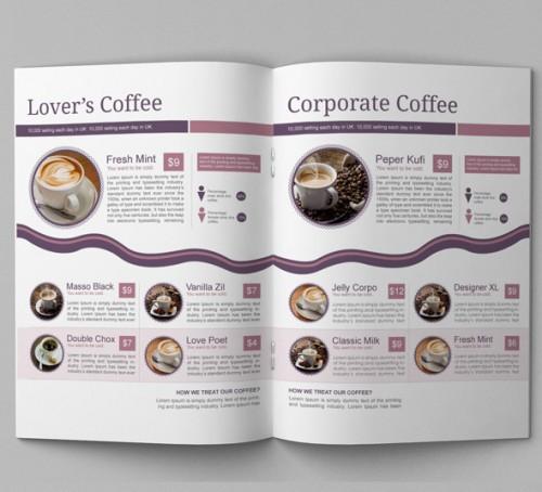 Elegant Coffee Shop Brochure Template