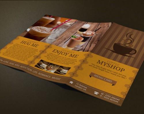 Modern Coffee Shop Menu Design