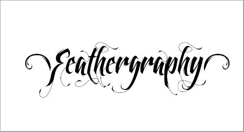 Feathergraphy Decoration Font