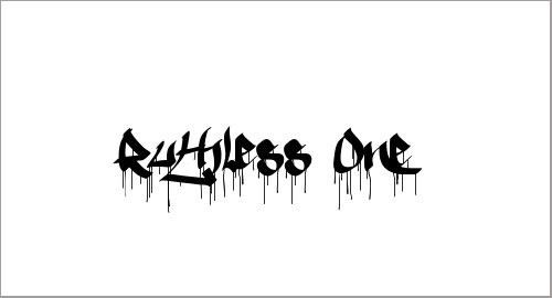 Ruthless One Font