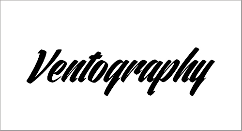 Ventography Personal Use Only Font