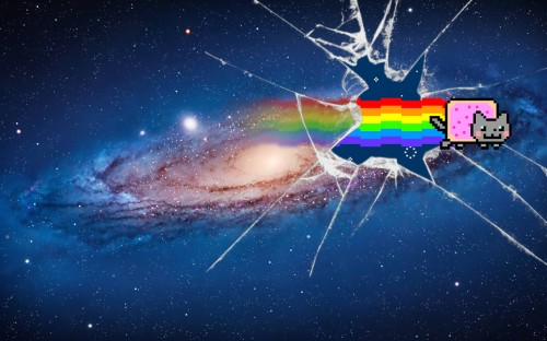 Nyan Cat Galaxy Wallpaper
