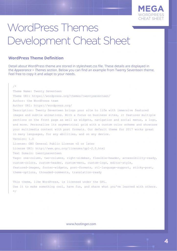 WordPress Cheat Sheet for Download - WPJournals